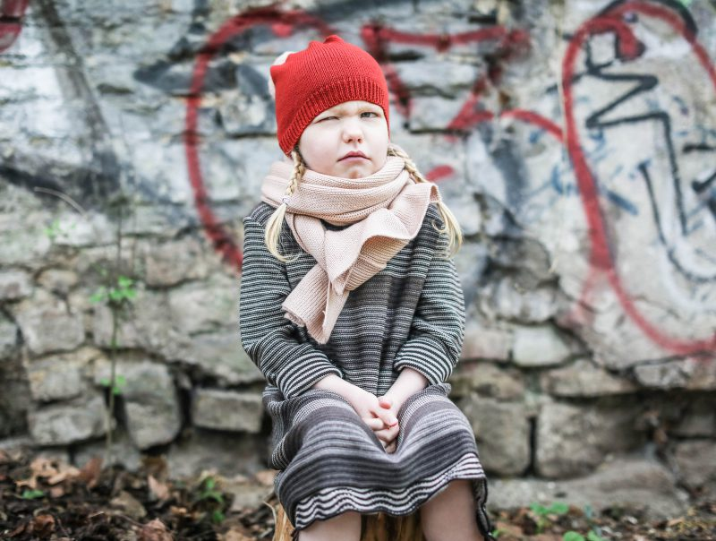 Strickkleid für Kinder