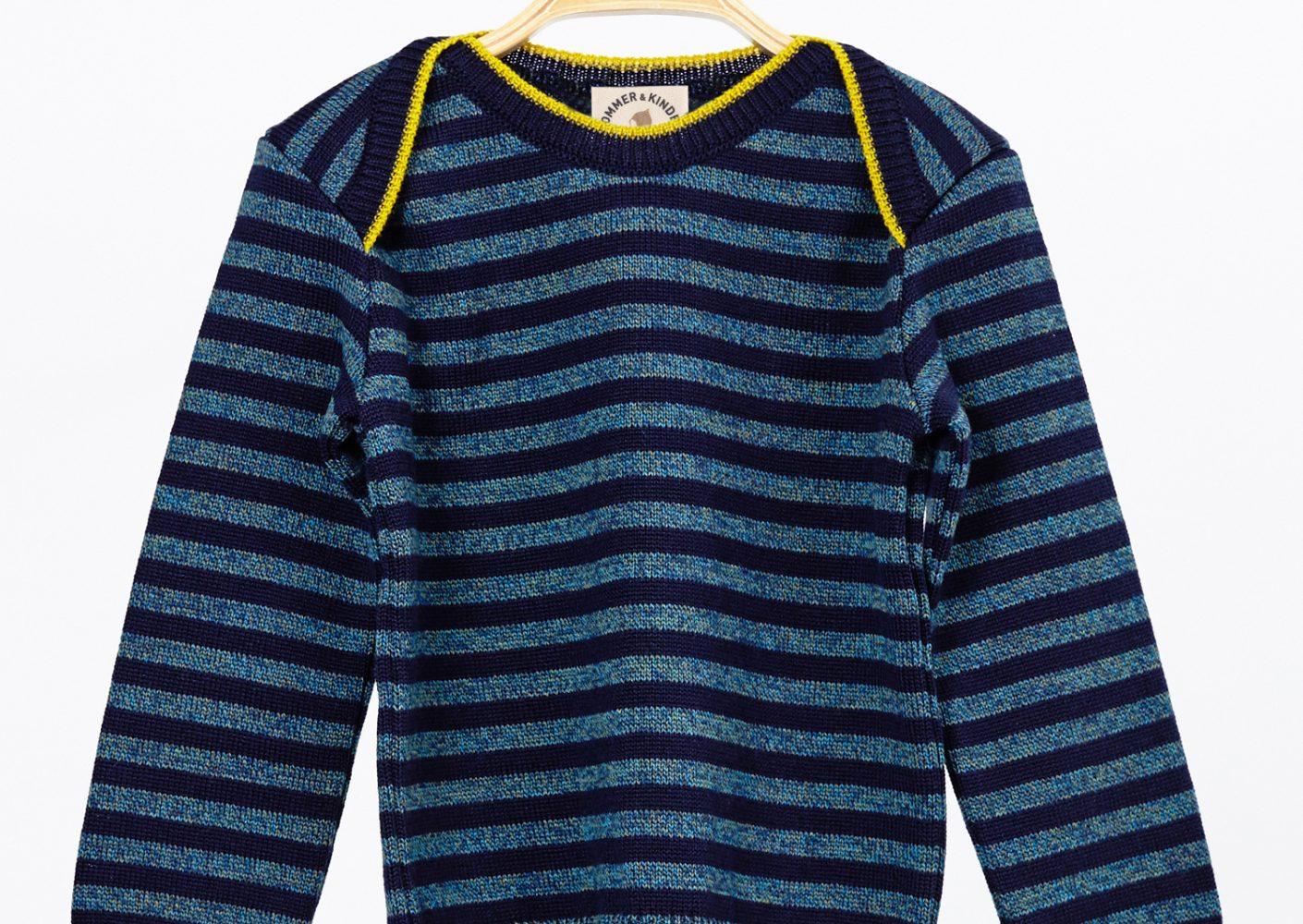 Pullover Kind Merinowolle blau_28