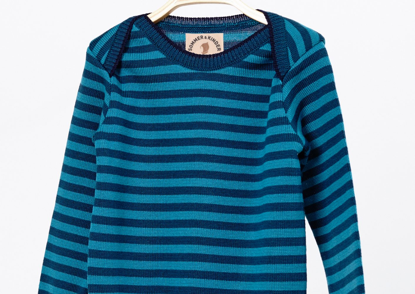 Pullover Kind Merinowolle blau_37