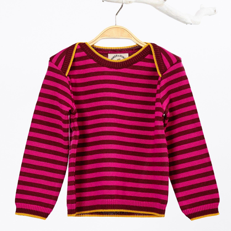 Pullover Kind Merinowolle pink_33