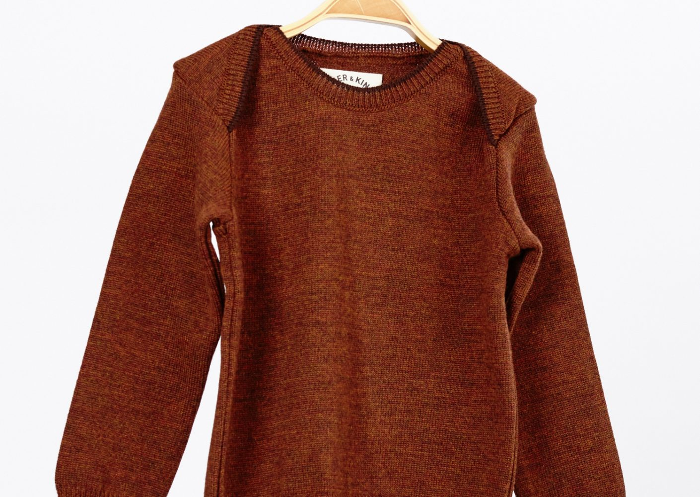 Pullover Pullover Kind Merinowolle braun_46