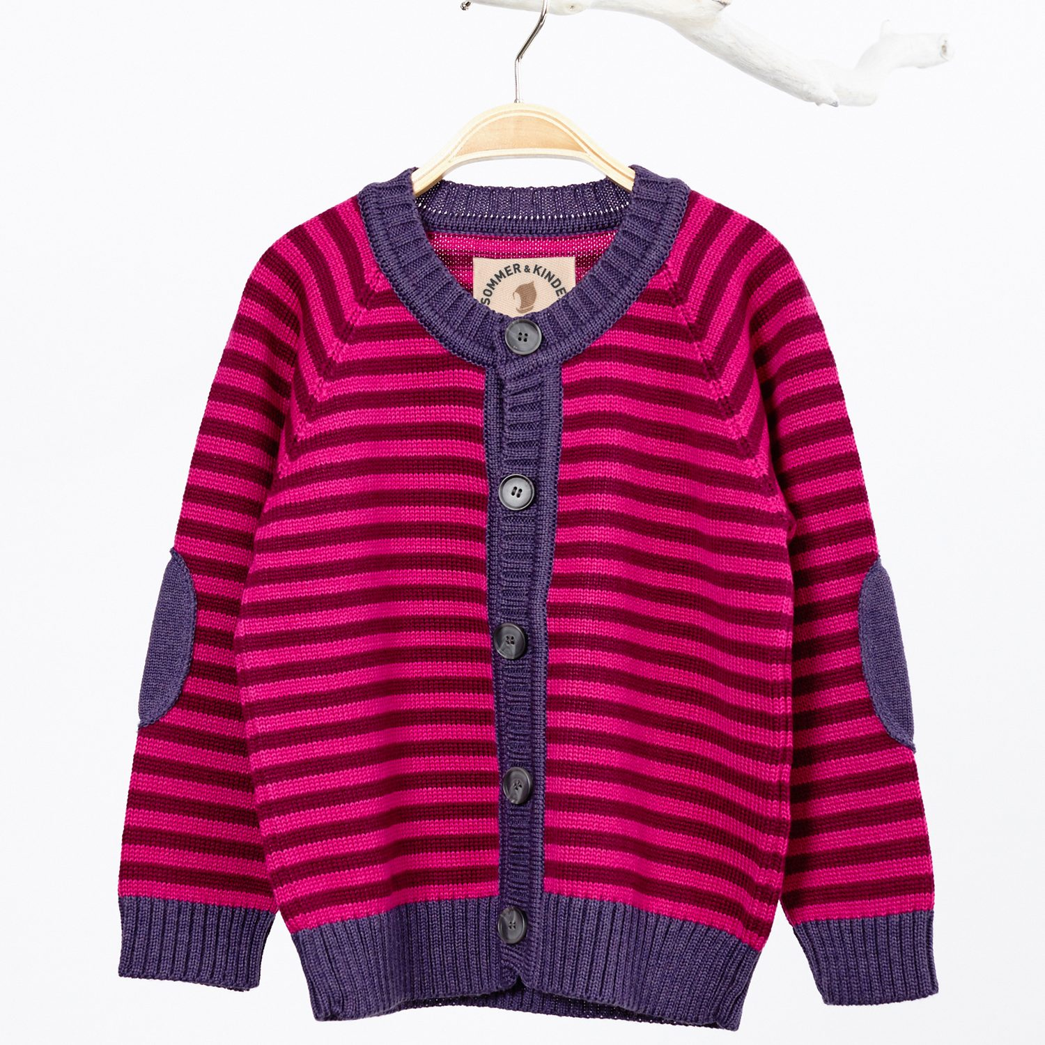 Kinder-Strickjacke lila-pink