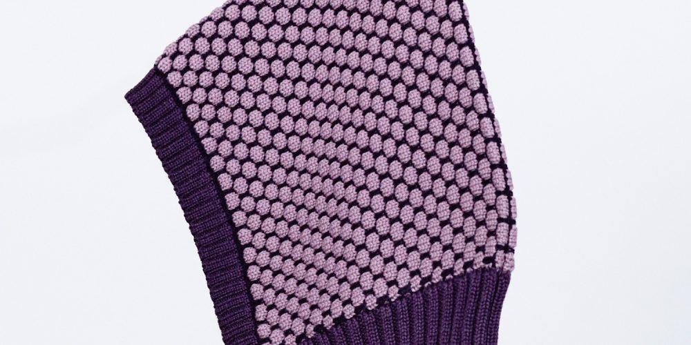 Baby-Wollmütze lila