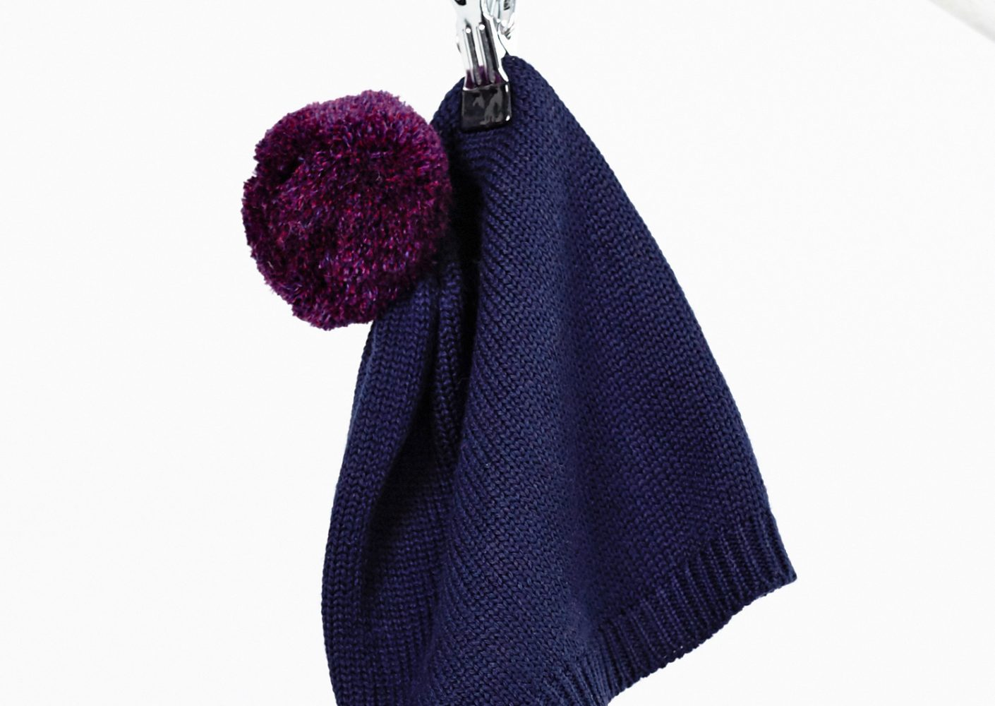 Bommelmütze blau-lila