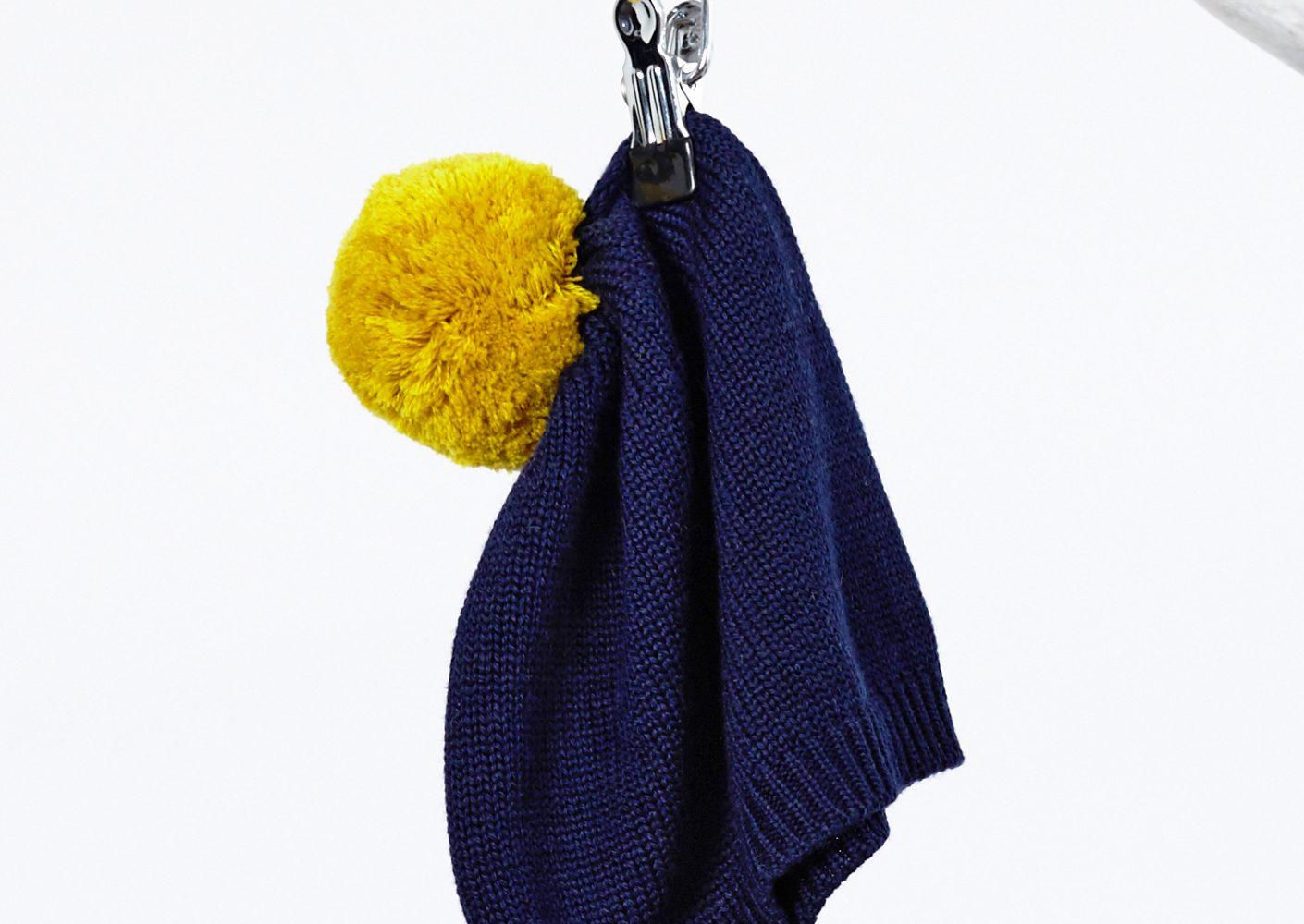 Bommelmütze blau