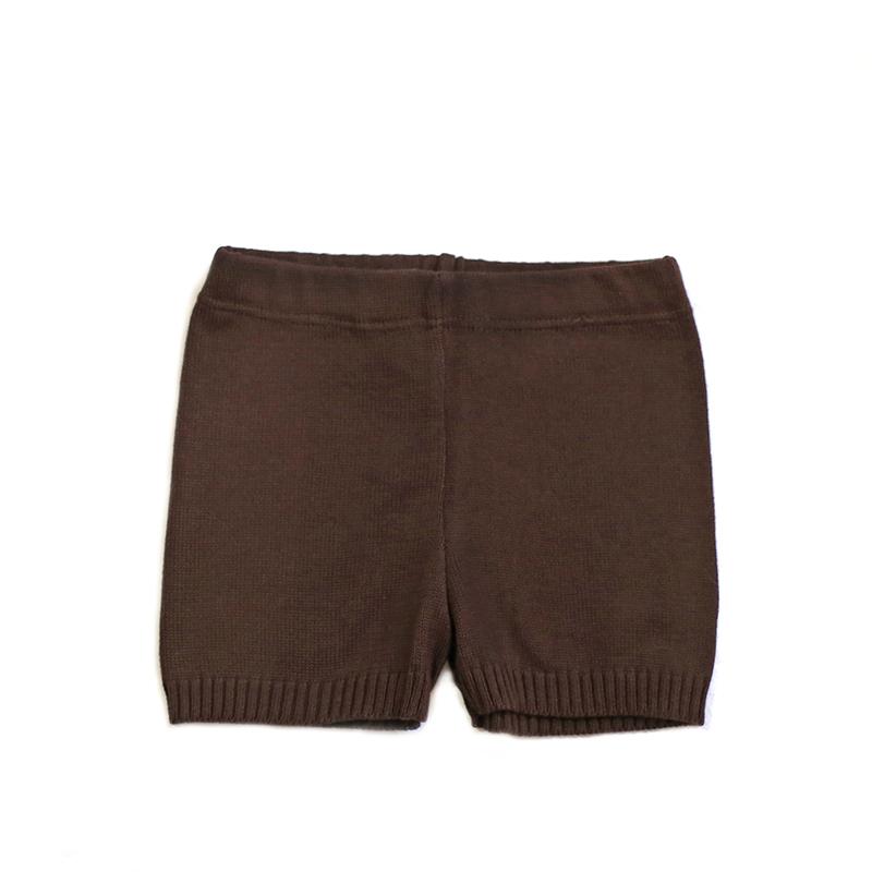 braune Strickhose aus Bio Baumwolle