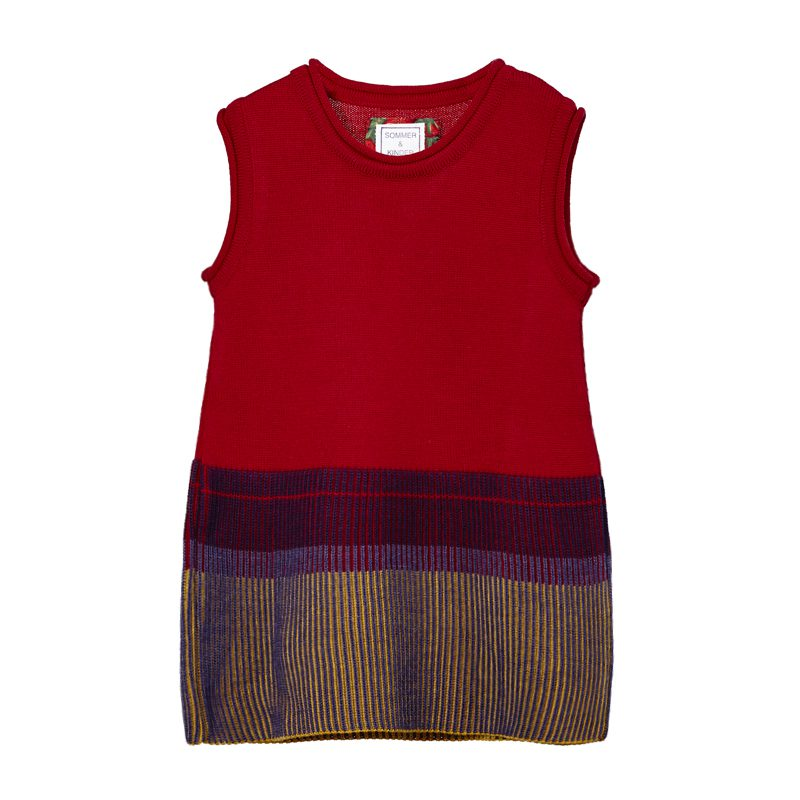 gestricktes Kinderkleid aus Wolle