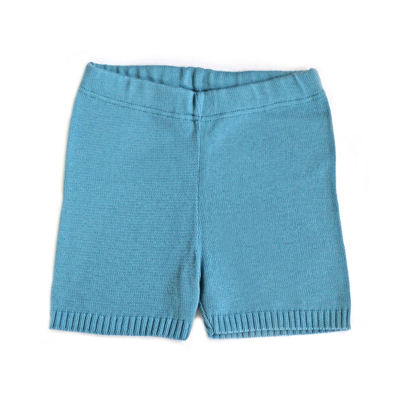 blue knitted shorts for kids